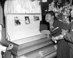 years after emmett till s murder black lives still matter image mamie till mobley weeps at emmett till s funeral