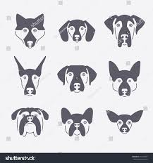 creative portrait collection diffe dog breeds stock vector creative portrait collection of diffe dog breeds including