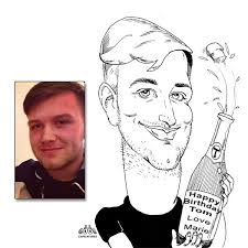 here s another birthday caricature gift ordered from cool caricatures co uk orders our is easy to use with paypal checkout