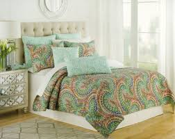 quilt sets simple bedding nice bedroom concept green brown blue colored combine in square thin