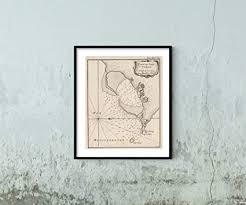 Amazon Com 1764 Map Chart Atlas Plan De Port Farine