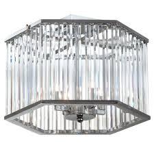picabo 4 light chrome crystal semi flush mount