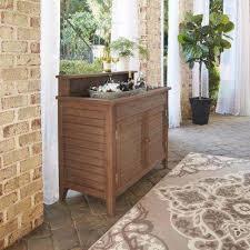 laa wood outdoor serving bar with sink