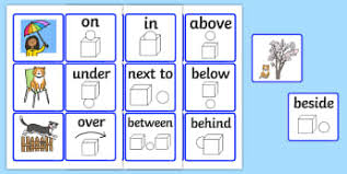 Preposition Chart For Kids Speech And Language Therapy Prepositions Primary Resources Sen