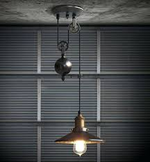 kitchen rise fall pulley pendant lights lamp retro wrought iron light fixture industrial fixtures lighting companies