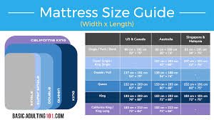 single mattress sizes. The Right Mattress Size For Your Loved Ones [Cheatsheet] Single Sizes E
