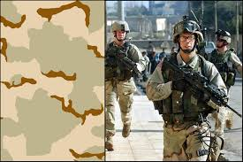 dcu us desert camo uniform or tri desert camouflage or coffee stain camouflage 3 color camo since 1993