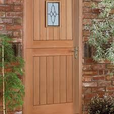 exterior shot of external oak cottage door