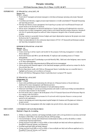 Senior Financial Analyst Resume Sample It Financial Analyst Resume Samples Velvet Jobs