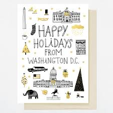lucky Dc – Washington Hello Holiday Card Greeting