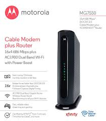 motorola ultra fast docsis 3 1 cable modem model mb8600. amazon.com: motorola mg7550 16x4 cable modem, ac1900 dual band wi-fi gigabit router with power boost, 686 mbps docsis 3.0 certified by comcast, ultra fast docsis 3 1 modem model mb8600 b