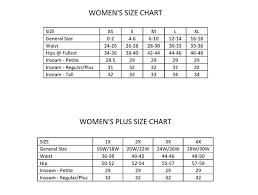 Punctilious Womens Inseam Chart 2019