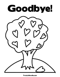 printable goodbye cards farewell coloring pages egaodaiji info
