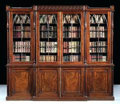 antique glass door bookcase bookcases with doors amazing living rooms intended for plus gre