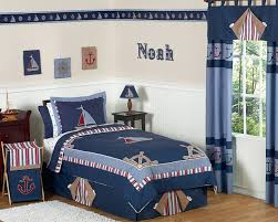 nautical nights boys sailboat childrens bedding 4 pc twin set only 119 99