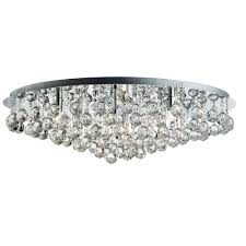 hanna 8 light round crystals chrome
