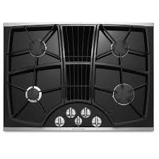 kitchenaid architect ii 4 burner gas cooktop with downdraft exhaust stainless steel
