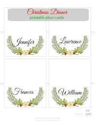 Holiday Placecards Free Printable Holiday Place Name Cards Download Them Or Print