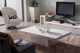 coffee table white marble set moder