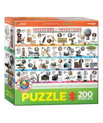 Inventors And Their Inventions Chart Eurographics Inventors Their Inventions 200 Piece Puzzle