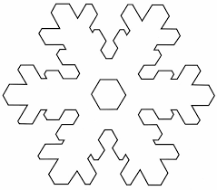 Blank Snowflake Template Snowflake Template Clipart