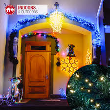 Outdoor Cluster Christmas Lights Details About Cluster Christmas Lights Led Indoor Outdoor Room Decoration 8 Modes