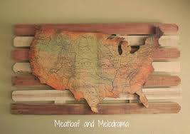 explore photos of usa map wall art showing 4 20 for wooden united