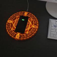 10w Magic Array Lighting Wireless Charger Qi Wireless Charger Magic Array Fast Charging Pad Docking 5w