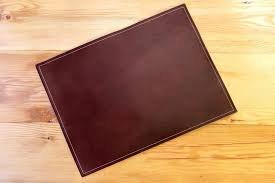 enchanting osco full demy faux leather desk mat brown chocolate brown leather desk pad brown faux