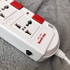 Ổ cắm Điện Quang ĐQ ESK 5W.SM750SL (5 lỗ 3 chấu dây 5 mét màu Trắng Đỏ) - Ổ  cắm điện