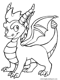 Spyro Cool Dragon Coloring Pages