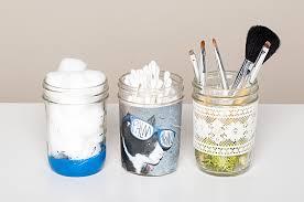 diy makeup storage jars