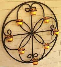 wall tealight candle holders delightful wrought iron candle holder for house walls top inspirations wall hanging