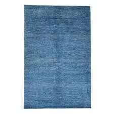 denim blue rugs hand knotted wool and silk grass design oriental rug 6