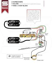 Wiring Diagrams For Split Humbuckers 1 Volume 1 Tone 2 Humbucker 1 Volume 3-Way Toggle
