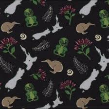 10 best New Zealand Quilting Fabric images on Pinterest | Fat ... & New Zealand NZ Map Icons Kiwi Bird Tiki Quilt Fabric from Sarah J Home  Decor. Adamdwight.com
