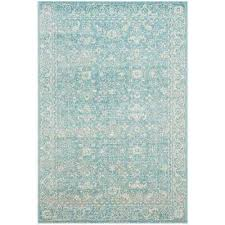 evoke light blue ivory 4 ft x 6 ft area rug evoke light blue ivory