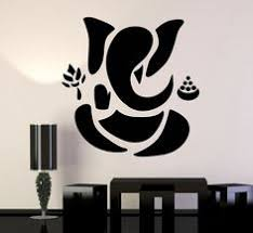 vinyl wall decal abstract ganesha hindu hinduism vedas god stickers unique gift ig3490  on ganesh wall art uk with the lord ganesh painting which i make see more here http www