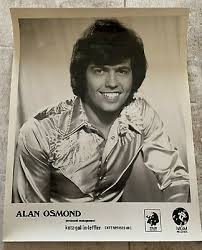 ALAN OSMOND 8 x 10 Glossy publicity photo with LOGOS mid 1970s   eBay