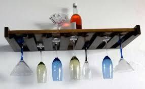 hanging wine glass shelf