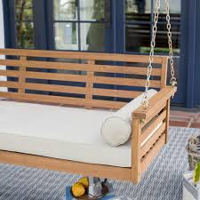 Belham Living Brighton Deep Seating 65 in. Porch Swing Bed with Cushion |  Hayneedle
