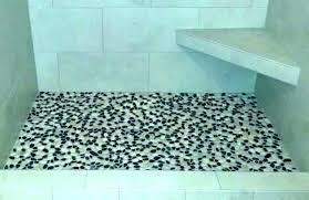 river rock tile shower floor pebble problem stone flooring ceramic