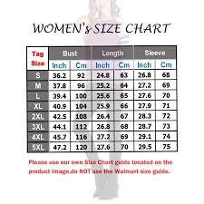 Walmart Womens Size Chart Sayfut Casual T Shirt For Women Basic Sport Tee Tunic Tops Stripe Splice Blouse Long Sleeve Round Neck Pueplr Size S 5xl