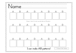 Kindergarten Ab Patterns Kindergarten Worksheets | Mreichert Kids ...