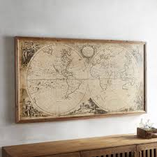 awesome map wall art diy canvas ideas uk antique maps ikea within most recently released