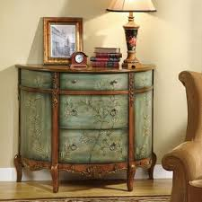 antique foyer furniture. coaster accent cabinets antique demilune cabinet with floral detailing fine furniture foyer