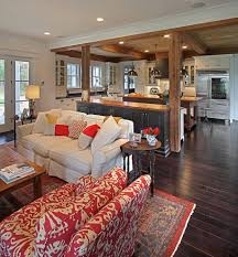 Living Room And Kitchen Contemporary Open Concept Kitchen For Traditional Living Room With