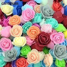 <b>50PCS</b>/<b>Lot</b> Artificial <b>Mini</b> PE Foam Rose Flower Head Handmade ...
