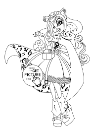 Small Picture wolf Monster high coloring pages for kids printable free
