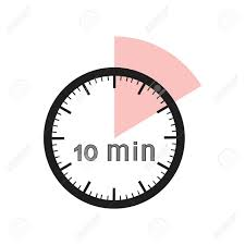 a 10 minute timer 10 minutes timer office clock with pink segment royalty free
